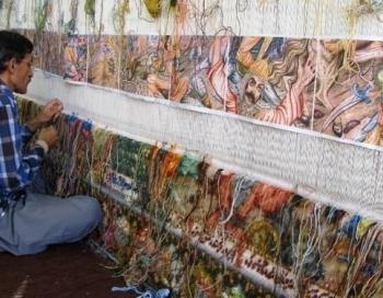 آزادی دارهای قالی از بند توقف تولید/ تار و پود قالی بر دار بی مهری